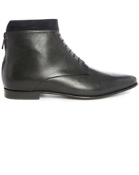 Paul And Joe Waris Black Zip Back Dual Material Laced Boots