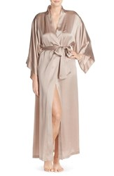 Women's Josie Natori Silk Charmeuse Robe