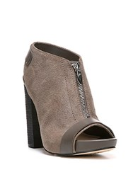 Fergie Rowley Leather Slingback Ankle Boots Grey