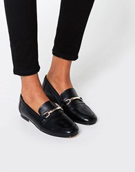 Asos Movement Leather Loafers Black