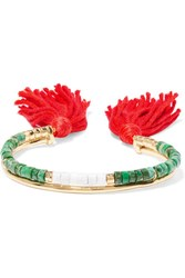 Aurelie Bidermann Sioux Gold Plated Green