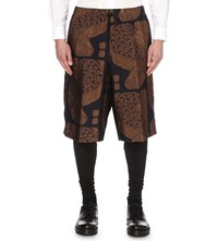 Dries Van Noten Pagan Bronze Print Shorts