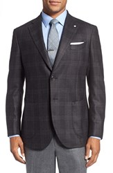 Lubiam Men's Classic Fit Plaid Silk And Wool Sport Coat
