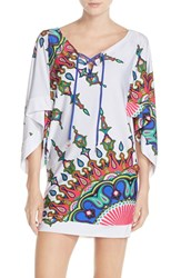 Women's Trina Turk 'Kasbah' Cover Up Tunic White Multi