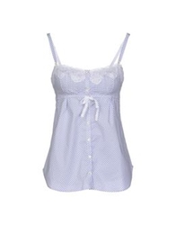 Ermanno Scervino Lingerie Sleeveless Undershirts Blue