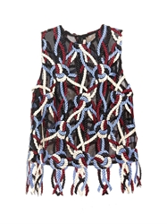 Christopher Kane Rope Embroidered Mesh Top