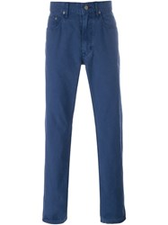 Polo Ralph Lauren Straight Leg Trousers Blue
