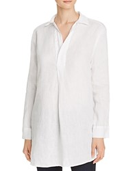Just Living Side Slit Split Neck Linen Tunic Compare At 94 White