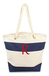 Cathy's Concepts Personalized Stripe Canvas Tote Blue Navy R