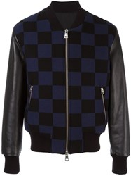 Ami Alexandre Mattiussi Runway Checked Teddy Jacket Blue