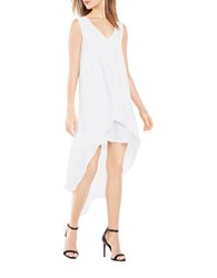 Bcbgmaxazria Kaira Asymmetrical Layered Dress White