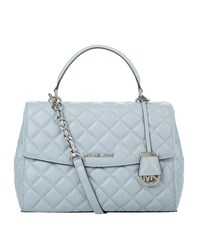Michael Michael Kors Medium Quilted Ava Satchel Female Dusty Blue