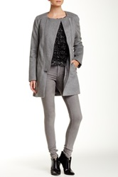 1.State Wool Blend Boxy Topper Coat Gray