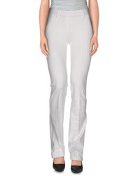 Plein Sud Jeanius Trousers Casual Trousers Women White