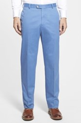 Peter Millar Raleigh Flat Front Washed Pant Blue