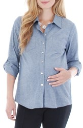 Women's Everly Grey 'Batina' Maternity Shirt Chambray