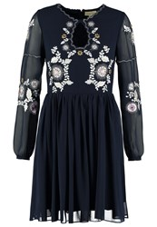 Frock And Frill Zarina Cocktail Dress Party Dress Navy Grey