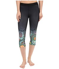 Hurley Dri Fit Engineered Crop Leggings Black O Women's Casual Pants
