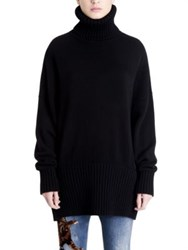 Dolce And Gabbana Oversized Cashmere Turtleneck Sweater Black