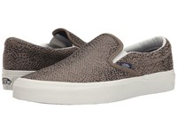 Vans Classic Slip On Cheetah Suede Black Tan Skate Shoes Brown