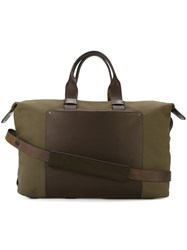 Troubadour Fabric Leather Weekender Green