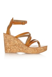 K Jacques St Tropez Cunegonde Leather Wedge Sandals