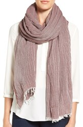 Eileen Fisher Women's Wool And Modal Twill Scarf Mahogany