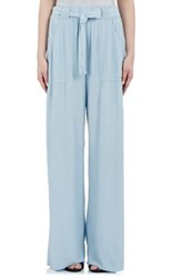 Raquel Allegra Women's Crepe Wide Leg Pants Blue