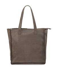 Day And Mood Burke Perforated Leather Shopper Tote Bag Gray