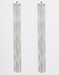 Asos Long Chain Swing Earrings Silver