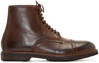 Hudson Brown Leather Wantage Boots