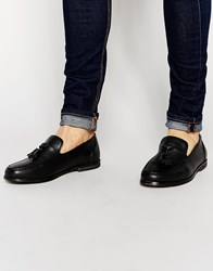 New Look Tassel Loafer In Faux Leather Black
