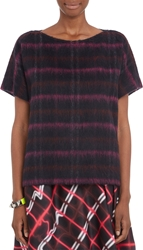 Kenzo Plaid Short Sleeve Top Pink