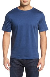 Bugatchi Men's Crewneck T Shirt Night Blue