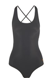 Tomas Maier Lace Up Swimsuit Gray