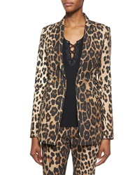 Altuzarra Leopard Print Side Lace Up Blazer