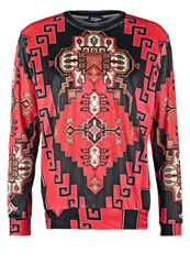 Jaded London Ethnic Long Sleeved Top Red