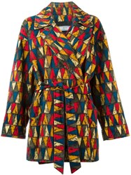 Yves Saint Laurent Vintage Printed Coat Multicolour