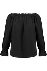 W118 By Walter Baker Mia Off The Shoulder Chambray Top Black