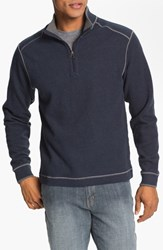 Men's Big And Tall Cutter And Buck Regular Fit Quarter Zip Sweater Navy Blue