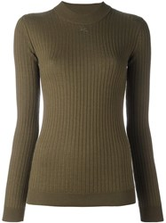 Courreges Ribbed Sweater Green