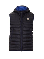 Moncler Morellet Quilted Down Nylon Hooded Gilet Navy