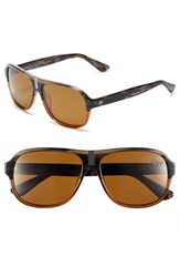 Men's Original Penguin 'The Carson' 58Mm Polarized Sunglasses Feathered Grey Brown