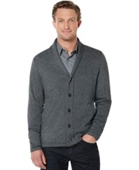 Perry Ellis Big And Tall Shawl Collar Cardigan Sweater