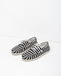 Band Of Outsiders X Sperry Striped Boat Shoe White Black