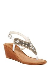 Naughty Monkey Sasha Samba Wedge Sandal White