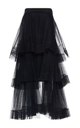 Martin Grant Strapless Tiered Bustier Dress Black
