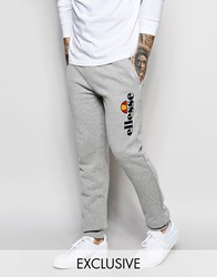 Ellesse Skinny Sweatpants With Large Logo Grey