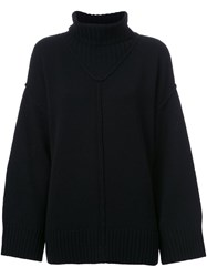 G.V.G.V. Raw Edge Turtleneck Pullover Black