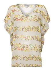 Mary Portas Bella Butterfly Sleeve Top Multi Coloured